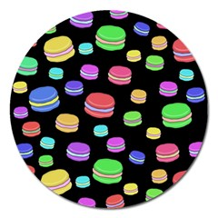 Colorful macaroons Magnet 5  (Round)