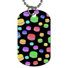 Colorful macaroons Dog Tag (One Side)