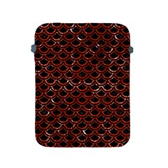 Scales2 Black Marble & Red Marble Apple Ipad 2/3/4 Protective Soft Case