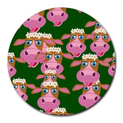 Cow Pattern Round Mousepads