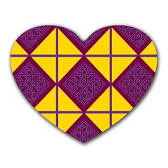 Complexion Purple Yellow Heart Mousepads
