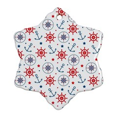 Compass Anchor Snowflake Ornament (2 Side)