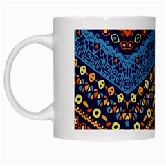 Cute Hand Drawn Ethnic Pattern White Mugs
