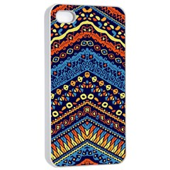Cute Hand Drawn Ethnic Pattern Apple Iphone 4/4s Seamless Case (white)