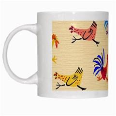 Chicken White Mugs