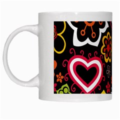 Flower Butterfly White Mugs