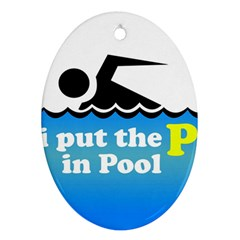 Funny Swiming Water Ornament (oval)
