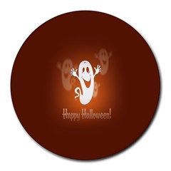 Funny Halloween Round Mousepads