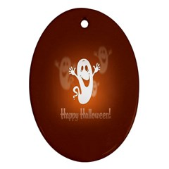 Funny Halloween Oval Ornament (two Sides)