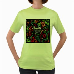 Hawaiian Paradise Fresh Women s Green T Shirt