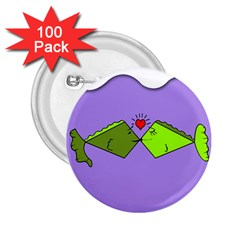 Kissing Fish 2 25  Buttons (100 Pack)