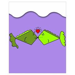 Kissing Fish Drawstring Bag (small)