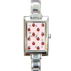 Insect Animals Cute Rectangle Italian Charm Watch