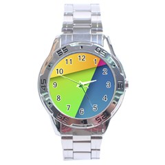Lock Screen Stainless Steel Analogue Watch
