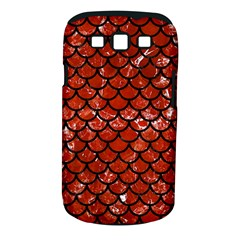 Scales1 Black Marble & Red Marble (r) Samsung Galaxy S Iii Classic Hardshell Case (pc+silicone)