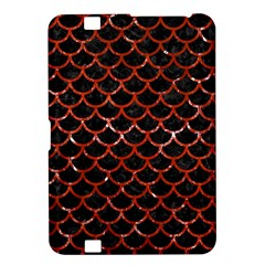 Scales1 Black Marble & Red Marble Kindle Fire Hd 8 9  Hardshell Case