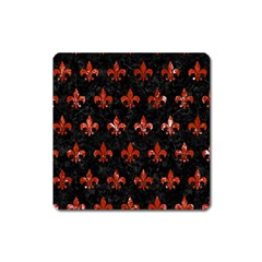 Royal1 Black Marble & Red Marble (r) Magnet (square)