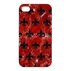 Royal1 Black Marble & Red Marble Apple Iphone 4/4s Hardshell Case