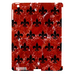 Royal1 Black Marble & Red Marble Apple Ipad 3/4 Hardshell Case (compatible With Smart Cover)
