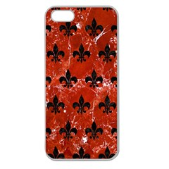 Royal1 Black Marble & Red Marble Apple Seamless Iphone 5 Case (clear)