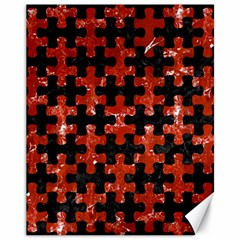 Puzzle1 Black Marble & Red Marble Canvas 11  X 14