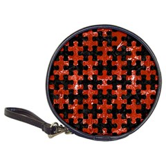 Puzzle1 Black Marble & Red Marble Classic 20 Cd Wallet