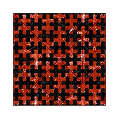 Puzzle1 Black Marble & Red Marble Acrylic Tangram Puzzle (6  X 6 )