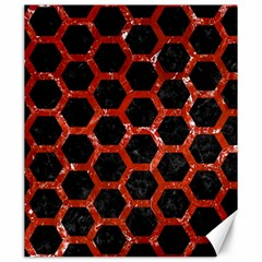 Hexagon2 Black Marble & Red Marble Canvas 20  X 24