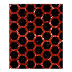 Hexagon2 Black Marble & Red Marble Shower Curtain 60  X 72  (medium)