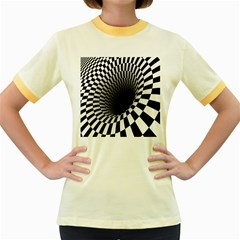 Optical Illusions Women s Fitted Ringer T Shirts