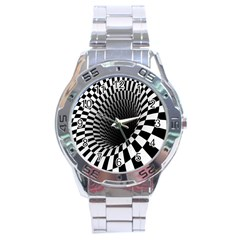 Optical Illusions Stainless Steel Analogue Watch
