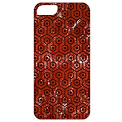 Hexagon1 Black Marble & Red Marble (r) Apple Iphone 5 Classic Hardshell Case