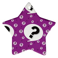 Question Mark Sign Ornament (star)