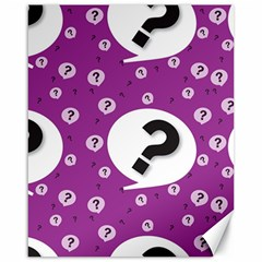 Question Mark Sign Canvas 16  X 20