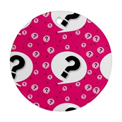 Question Mark Red Sign Ornament (round)