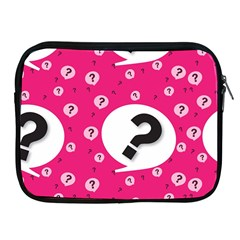 Question Mark Red Sign Apple Ipad 2/3/4 Zipper Cases