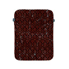 Hexagon1 Black Marble & Red Marble Apple Ipad 2/3/4 Protective Soft Case