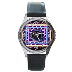 Abstract Sphere Room 3d Design Round Metal Watch