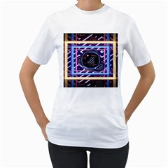 Abstract Sphere Room 3d Design Women s T Shirt (white) (two Sided)