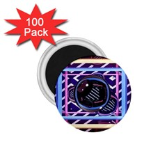 Abstract Sphere Room 3d Design 1 75  Magnets (100 Pack)