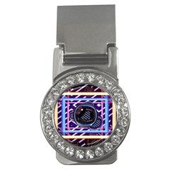 Abstract Sphere Room 3d Design Money Clips (cz)