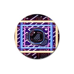 Abstract Sphere Room 3d Design Magnet 3  (round)
