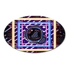 Abstract Sphere Room 3d Design Oval Magnet