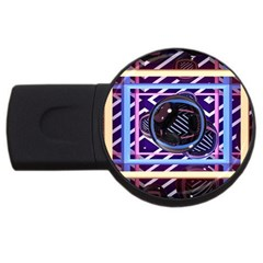 Abstract Sphere Room 3d Design Usb Flash Drive Round (2 Gb)
