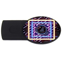 Abstract Sphere Room 3d Design USB Flash Drive Oval (2 GB)