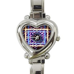 Abstract Sphere Room 3d Design Heart Italian Charm Watch