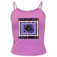 Abstract Sphere Room 3d Design Dark Spaghetti Tank