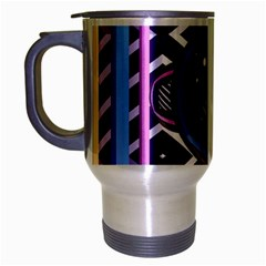 Abstract Sphere Room 3d Design Travel Mug (silver Gray)