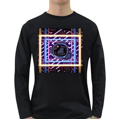 Abstract Sphere Room 3d Design Long Sleeve Dark T Shirts