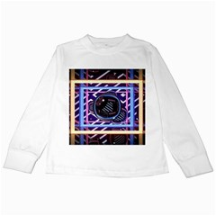 Abstract Sphere Room 3d Design Kids Long Sleeve T Shirts
